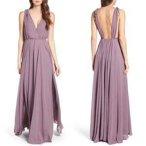 Dance the Night Away Purple Backless Maxi Dress